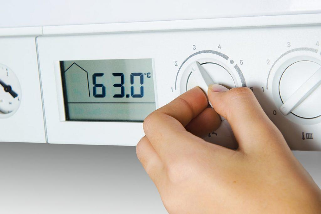 cv ketel temperatuur omlaag