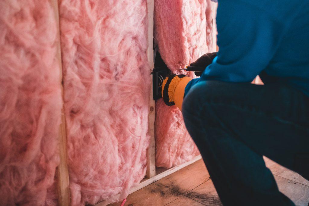 muur isolatie van binnen steenwol